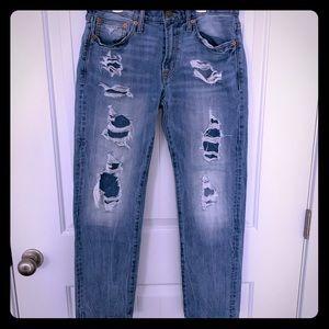 Mens American Eagle distressed slim straight jeans
